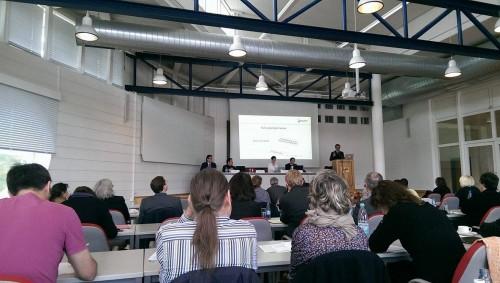Vortrag von Prof. Dr. Michael Grünberger (Foto: Nicole Werner)