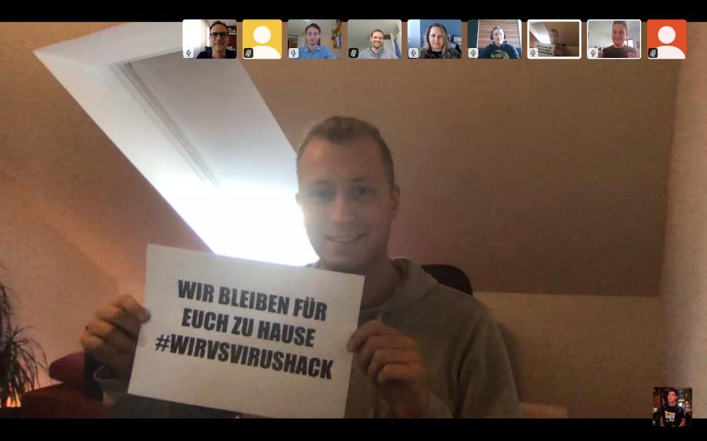 Screenshot: Teilnehmer des Hackathon in einer Videokonferenz